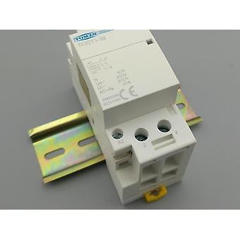 40a 220v/230v/400v 50/60hz Din Rail Household Ac Modular Contactor 2no