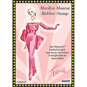 Personal Impressions Marilyn Red Bow Evening Dress Rubber Cling Stamp