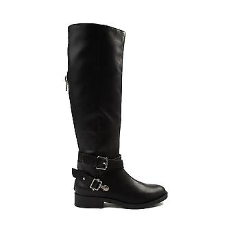 Mia Womens Ethel Almond Toe Knee High Cowboy Boots