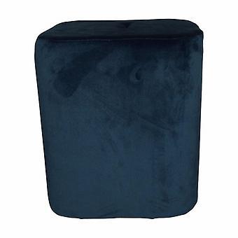 stool 35 x 38 cm velvet blue