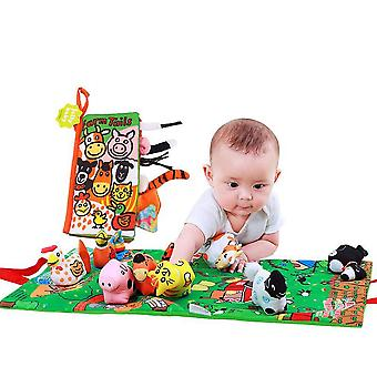 Animals Interesting Cloth Book With Sound Paper Bb Device Bell Dolls Educational Baby Fabric Book