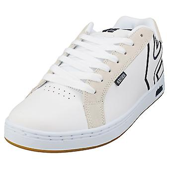 Etnies Fader Mens Skate Trainers in White Navy