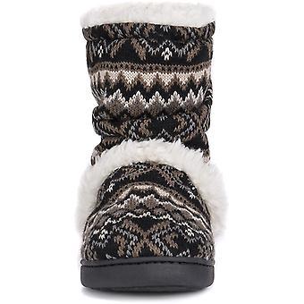 MUK LUKS Women's Holly Slippers-Black
