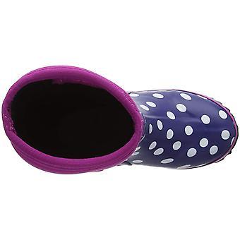 Hatley Girls' Toddler Neoprene Boots, Polka dots, 6 US Child
