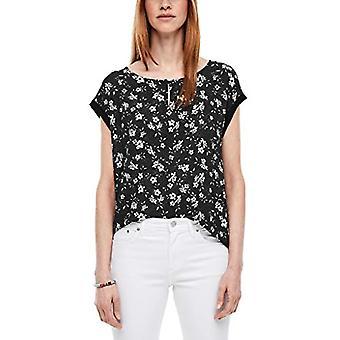 s.Oliver T-Shirt, 99A1 Étoiles AOP Noires, 38 Femme