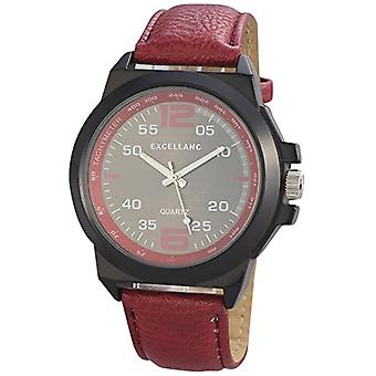 Excellanc 295071600168 - Men's wristwatch, different materials, color: red