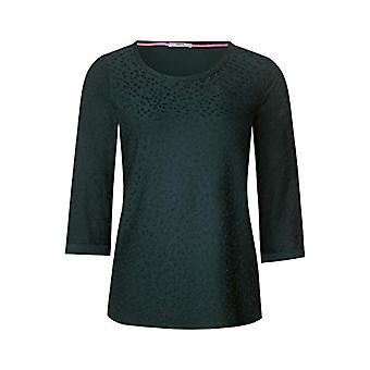 Cecil 313766 T-Shirt, Multicolored (Slate Green 21687), Medium Woman