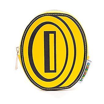 "Bioworld סופר מריו האחים מטבע ארנק מטבע ארנק, 13 ס""מ, צבעוני (צהוב / שחור)"
