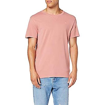 G-STAR RAW Earth Round Neck T-Shirt, Rosa (Dk Teal Rose A827), X-Large Men