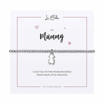 My Mummy / Girl - 17.5cm Sentiments Bracelet - Silver - Jewellery Gifts for Women from Lu Bella