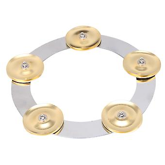 Drum Percussion Ching Ring Jingle for Cymbals Stainless Steel Golden 6Inch