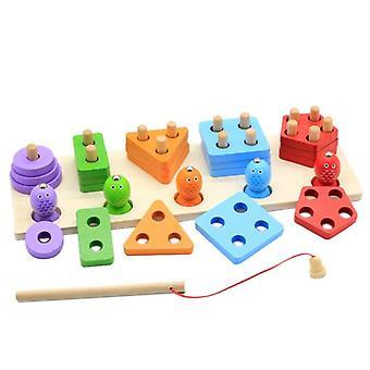 خشبي شكل الفرز مكدس اللون فرز لعبة خشبية التراص ولعب الفرز| ألعاب الصيد