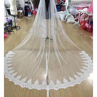 كاتدرائية طويلة الزفاف الزفاف الدانتيل كيب الحجاب