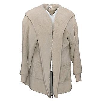 Koolaburra By UGG Women's Sweater Cozy Shaggy Cardigan Beige A386142