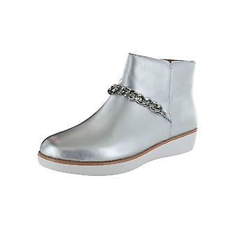 Fitflop Kvinders Pia Chain Metallic Læder Ankel Boot Sko