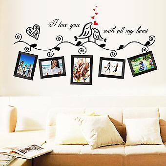 Regenboghorn I Love You With All My Heart Photo Gallery Wall Decal Sticker
