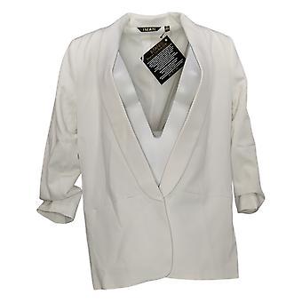 IMAN Global Chic Women's SzSuit Jacket/Blazer Everyday Blazer White 740717