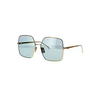 Fendi FF0439/S 001/O7 gult gull/grønt speil solbriller