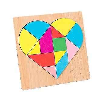 Quebra-cabeça de mosaico de variedade em forma de coração dt7661