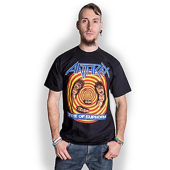 Ántrax - Estado de Euforia Unisex Camiseta X-Large - Negro