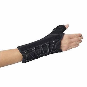 DJO المعصم / الإبهام دعم Splint سريعة تناسب W.T.O. نايلون / رغوة اليد اليمنى الأسود مقاس واحد يناسب معظم, 1 كل