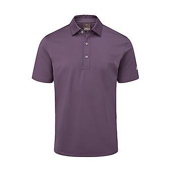 Oscar Jacobson Mens Polo Shirt Short Sleeve Anti-Wrinkle Performance Top
