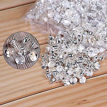 جديد 20mm الفضة 10pcs مصغرة جلجل أجراس الذهب الفضة الحيوانات الأليفة شنقا جرس معدني للزينة sm56177