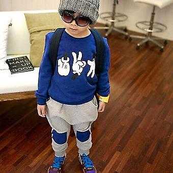 الخريف الاطفال Sweatshirt ملابس للجنسين الأطفال روك ورقة مقص ملابس
