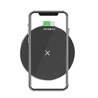 QI15W mobile phone wireless fast circular charger for Apple iphone 12(Black)