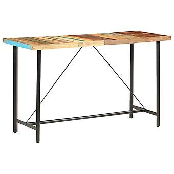vidaXL Bar pöytä 180 x 70 x 107 cm Kierrätetty massiivipuu