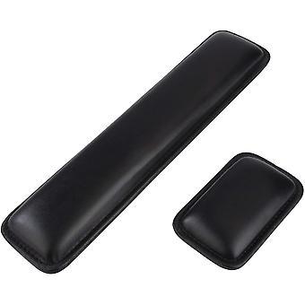 Handgelenkauflage für Tastatur und Maus Ergonomische Leder Handauflage mit Memory-Schaum Wrist Rest