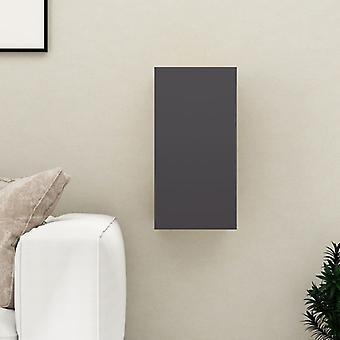 vidaXL armoire de télévision gris 30,5x30x60 cm panneau de particules