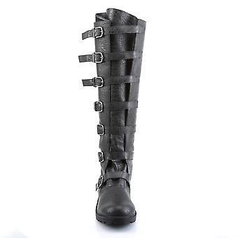 Funtasma Apparel & Accessories > Costumes & Accessories > Costume Boots > Mens GOTHAM-110 Blk Distressed Pu
