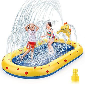 Planschbecken für Kinder Baby Hunde Aufblasbarer Pool Sprinkler Splash kinderplanschbecken