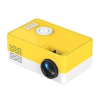 Mini-Projektor unterstützt 1080P HDMI USB (Gelb)