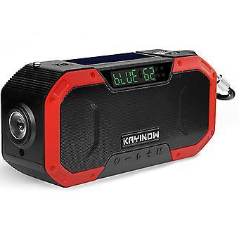 Solar-Handkurbelradio, Multifunktions-Notfallradio für den Außenbereich, Bluetooth-Lautsprecher (Farbe-3)