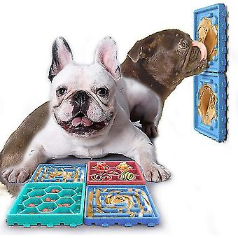 Silikoni ruokinta nuolla matto lemmikkieläinten ruoka kulhot hidastavat syömistä syöttölaite (sininen)