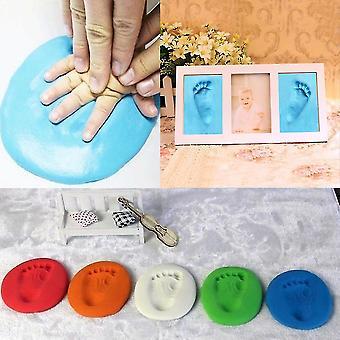 Bebê bebê crianças pegada de impressão de mão argila especial bebê diy ar secando argilas