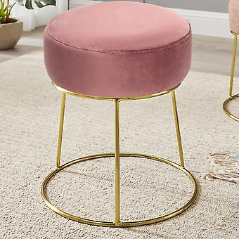 Velvet Footstool Pouffe Dressing Table Tabouret Siège Chaise