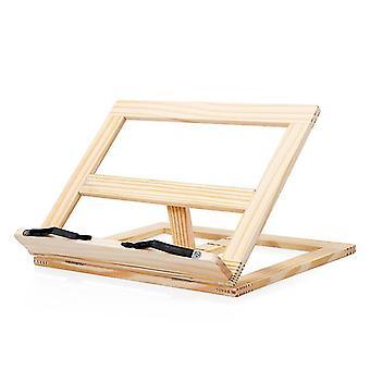 Uchwyt na książkę kucharską wykonany z bambusa - do kuchni i biura - Uchwyt na przepis z 3 poziomami nachylenia Czytanie