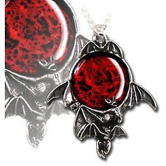 Alchemy Gothic Blood Moon Pendant w/ Necklace