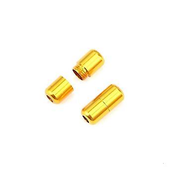2 Stück moderne Aluminium-Schnürsenkelschnallen (Golden)
