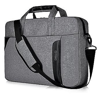 15.6 Inch Laptop Shoulder Bag Nylon Messenger Bag Business Briefcase Handbag Laptop Case,grey