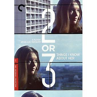 To eller tre ting jeg ved [DVD] USA importerer