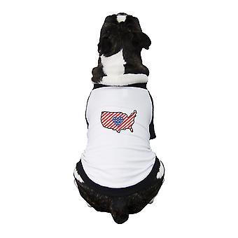 خريطة الولايات المتحدة الأمريكية البيسبول الحيوانات الأليفة الصغيرة المحملة هدايا الوطني لطيف لأصحاب الكلاب