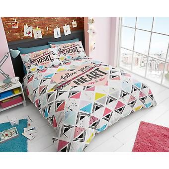 Follow Your Heart Premium Printed Duvet Cover Bedding Set