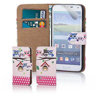 Fun book wallet case cover for Samsung Galaxy S5 G900 - Tree Owl