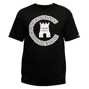 Bandidos & castelos Greco cadeia C t-shirt preto