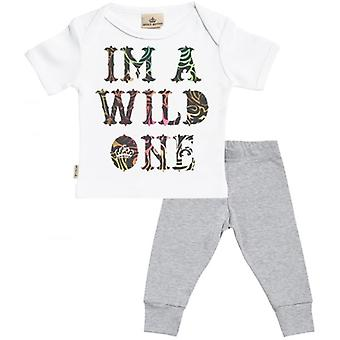 Spoilt Rotten I'm A Wild One Baby T-Shirt & Baby Jersey Trousers Outfit Set