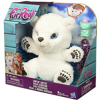 Amici di FurReal Snifflin giocattolo della peluche orso polare di Sawyer